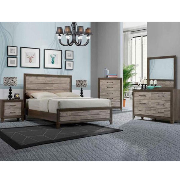 7 PIECE QUEEN SIZE BEDROOM SET • Furniture & Mattress Discount King