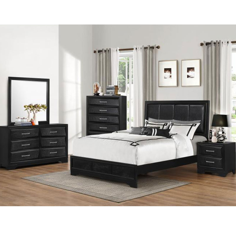 7 Piece Queen Size Bedroom Set Furniture Mattress Discount King
