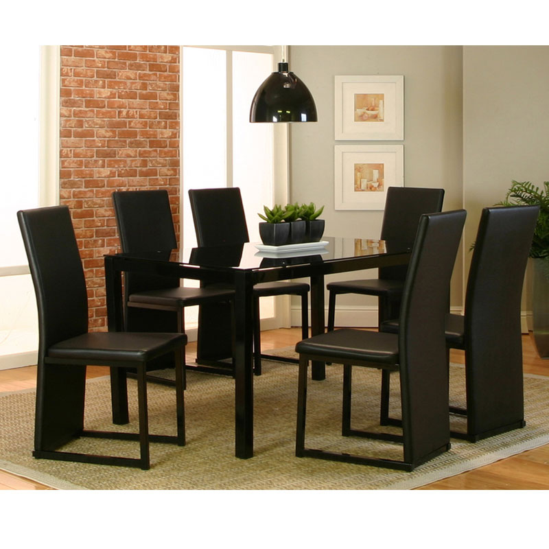 7 piece dinette set outerlands charcoal click to enlarge homedining room piece dinette set furniture mattress discount king