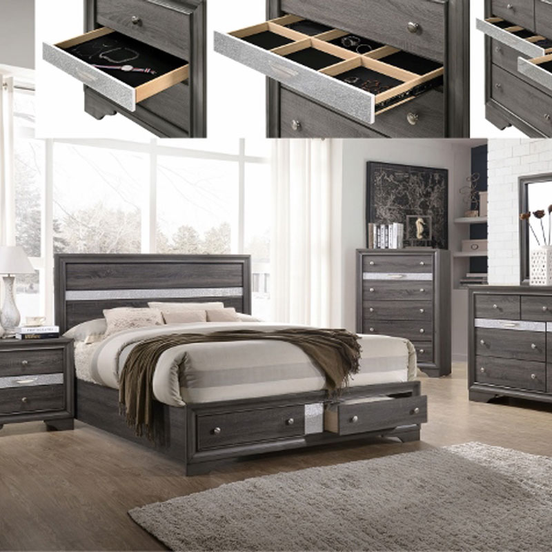 5 PIECE BEDROOM SET • Furniture & Mattress Discount King
