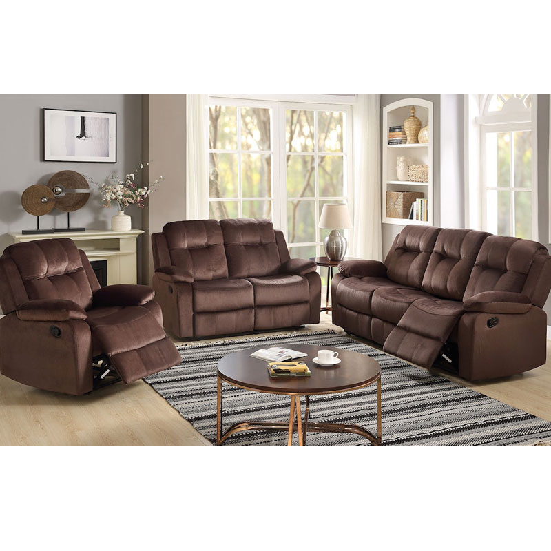 3 Piece Set Double Reclining Sofa, Loveseat, and Recliner