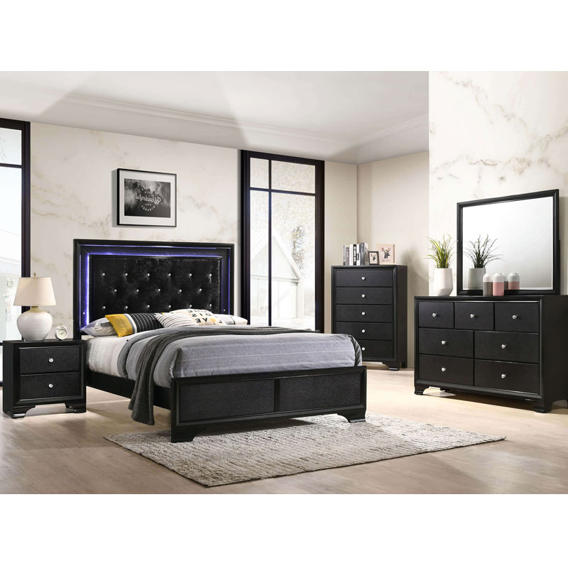 5 Piece Queen Size Bedroom Set Furniture Mattress Discount King