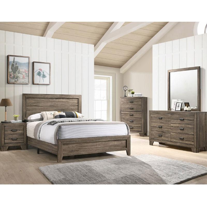 7 Piece Queen Size Bedroom Set Furniture Mattress Discount King